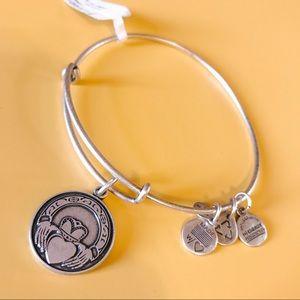 Alex and Ani Claddagh Bracelet in Silver